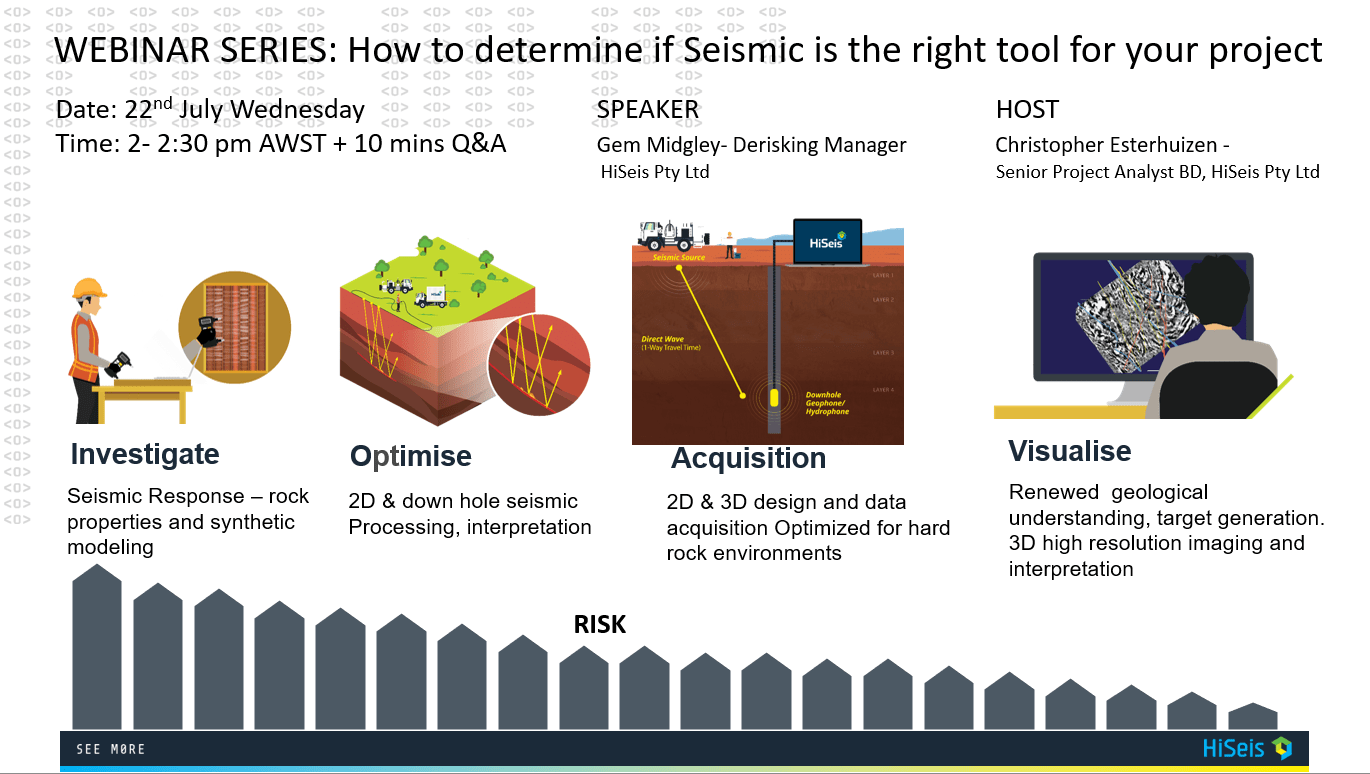 Webinar : How to determine if Seismic is the right tool for your project » Derisking LinkedIN